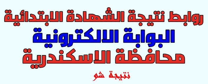 نتيجة الشهادة الابتدائية بالاسكندرية 2018