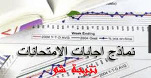 نموذج اجابة امتحان الاقتصاد للصف الثالث الثانوى