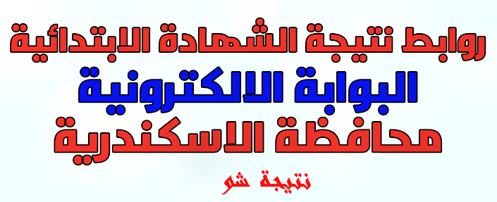 نتيجة الشهادة الابتدائية 2018 بمحافظة الاسكندرية